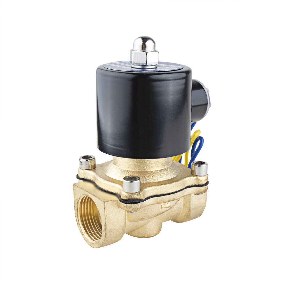 "DC 12V 2W200-20 NPT 3/4"" Female Thread 2 Way N/C Copper Water Solenoid Valve"