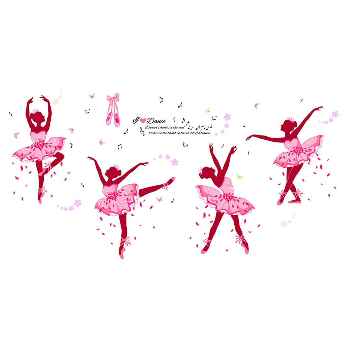 Ballet Girl Pattern Mural Wall Sticker Removable Art Vinyl Decal DIY Home