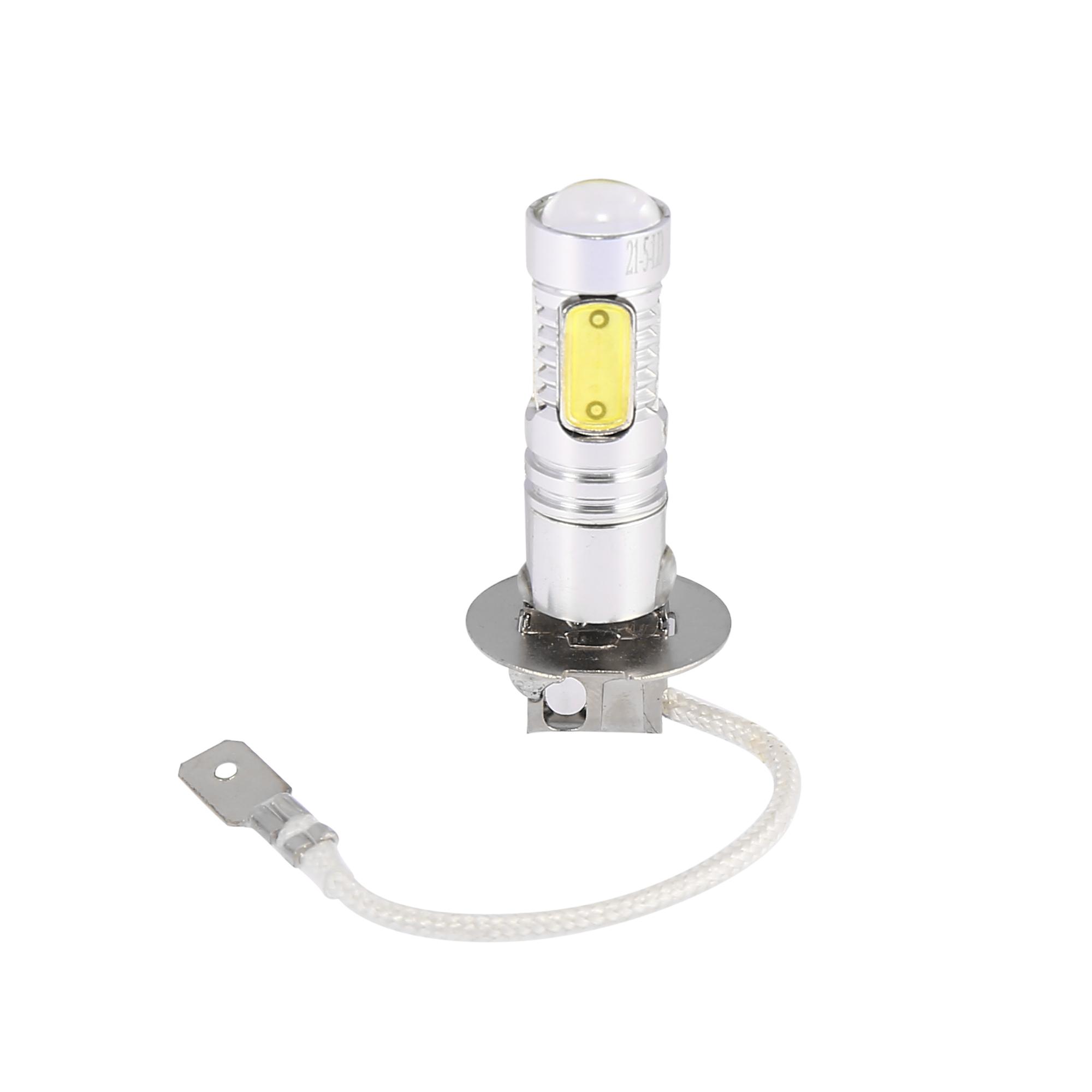 1 Pcs H3 Socket 5 White SMD LED Car Daytime Driving Fog Head Light Lamp Bulb