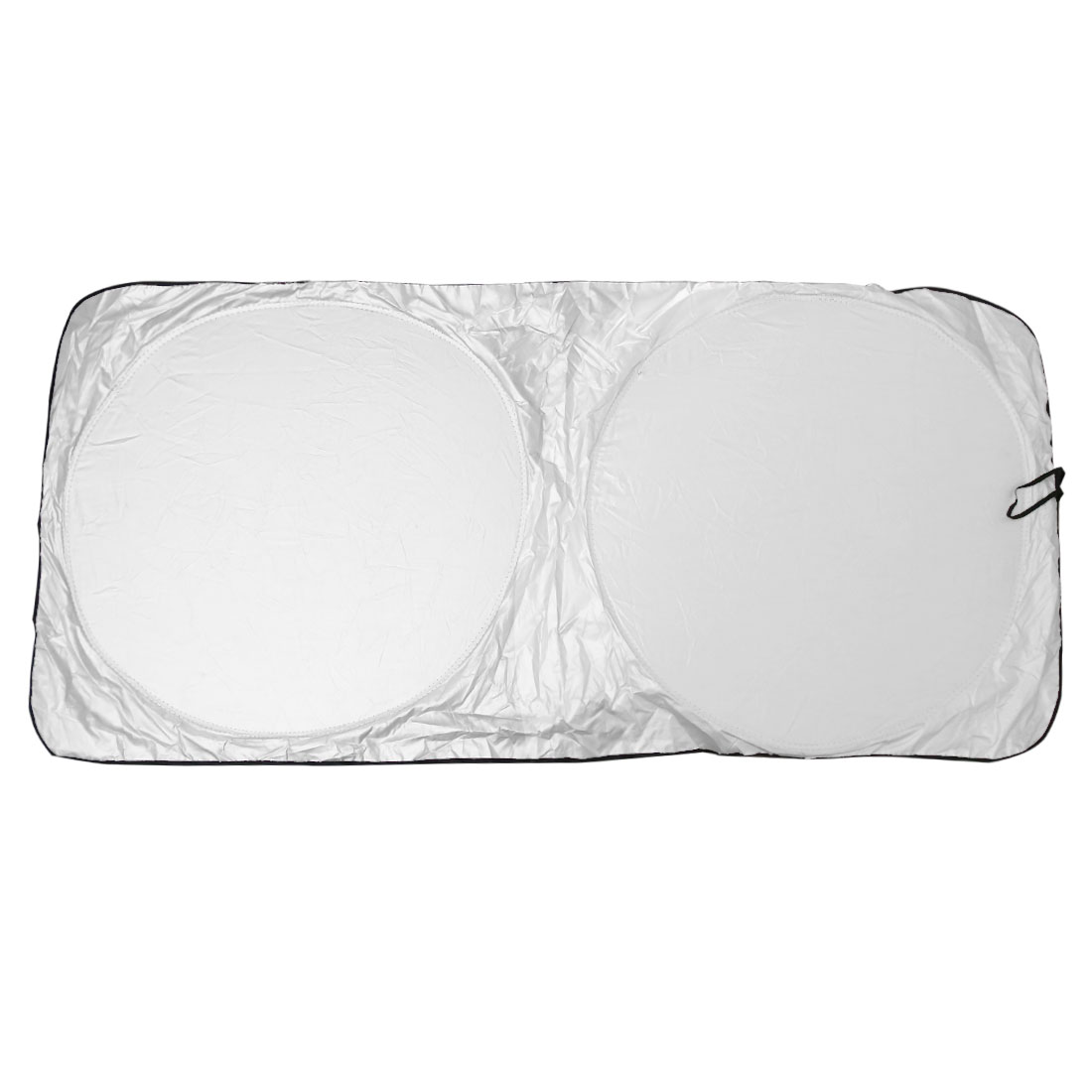 Silver Tone Folding Car Front Visor Windshield Sun Shade Protection Cover