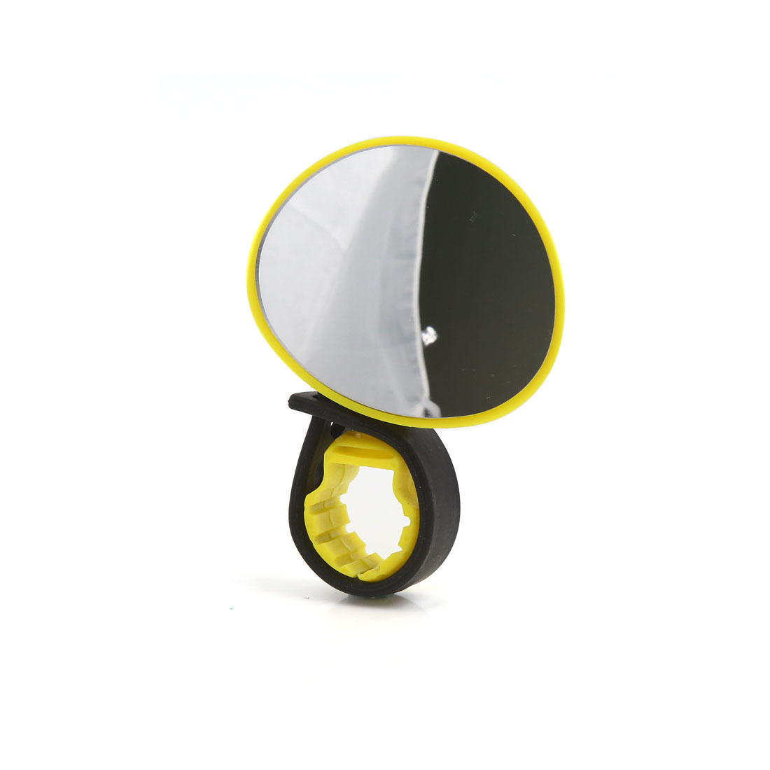Yellow 360 Degree Rotatable Adjusting Handlebar Rear View Mirror for Cycling