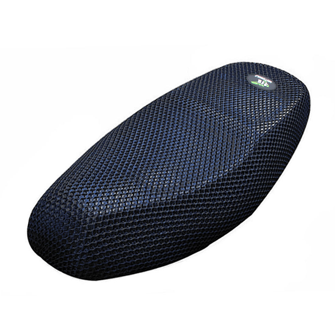 L Heat Resistant Breathable Seat Saddle 3D Mesh Cover Black Blue for Motorcycle