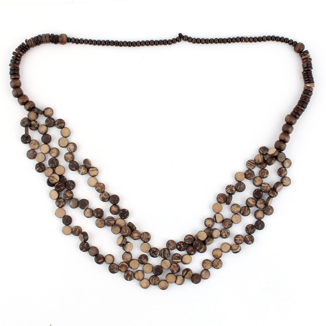 Handcraft Wood Beads Necklace Neck Chain Clothing Accessory 77cm Girth