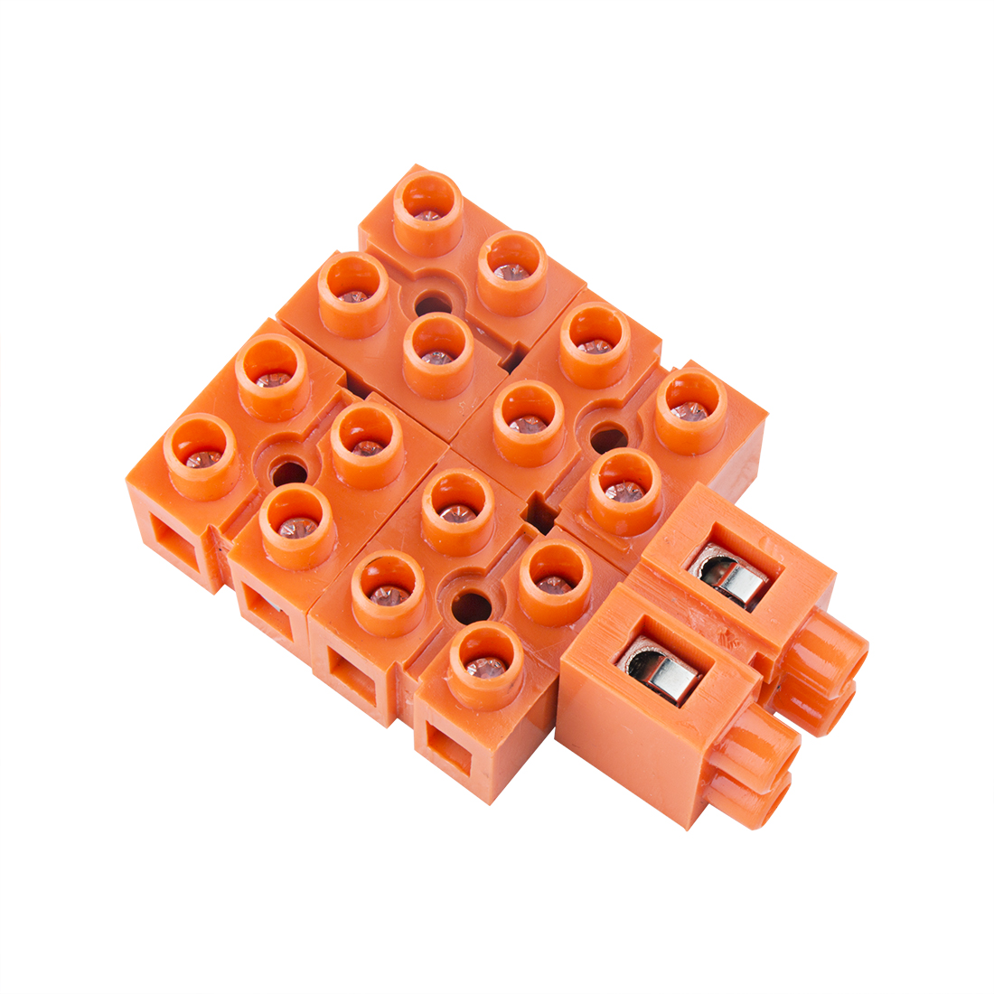 5pcs 600V 36A Dual Row 2 Positions Screw Terminal Electric Barrier Strip Block