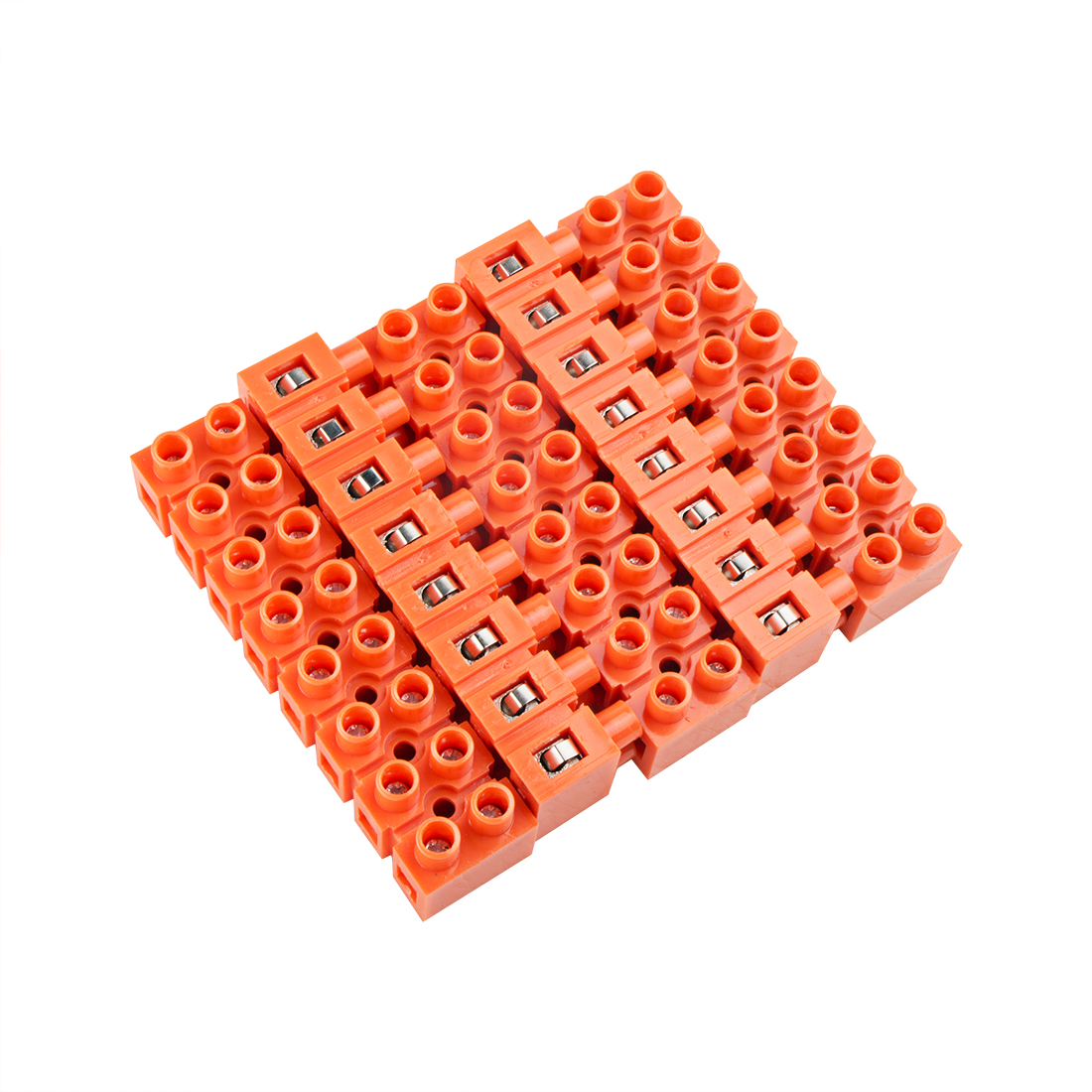 5pcs 600V 36A Dual Row 8 Positions Screw Terminal Electric Barrier Strip Block