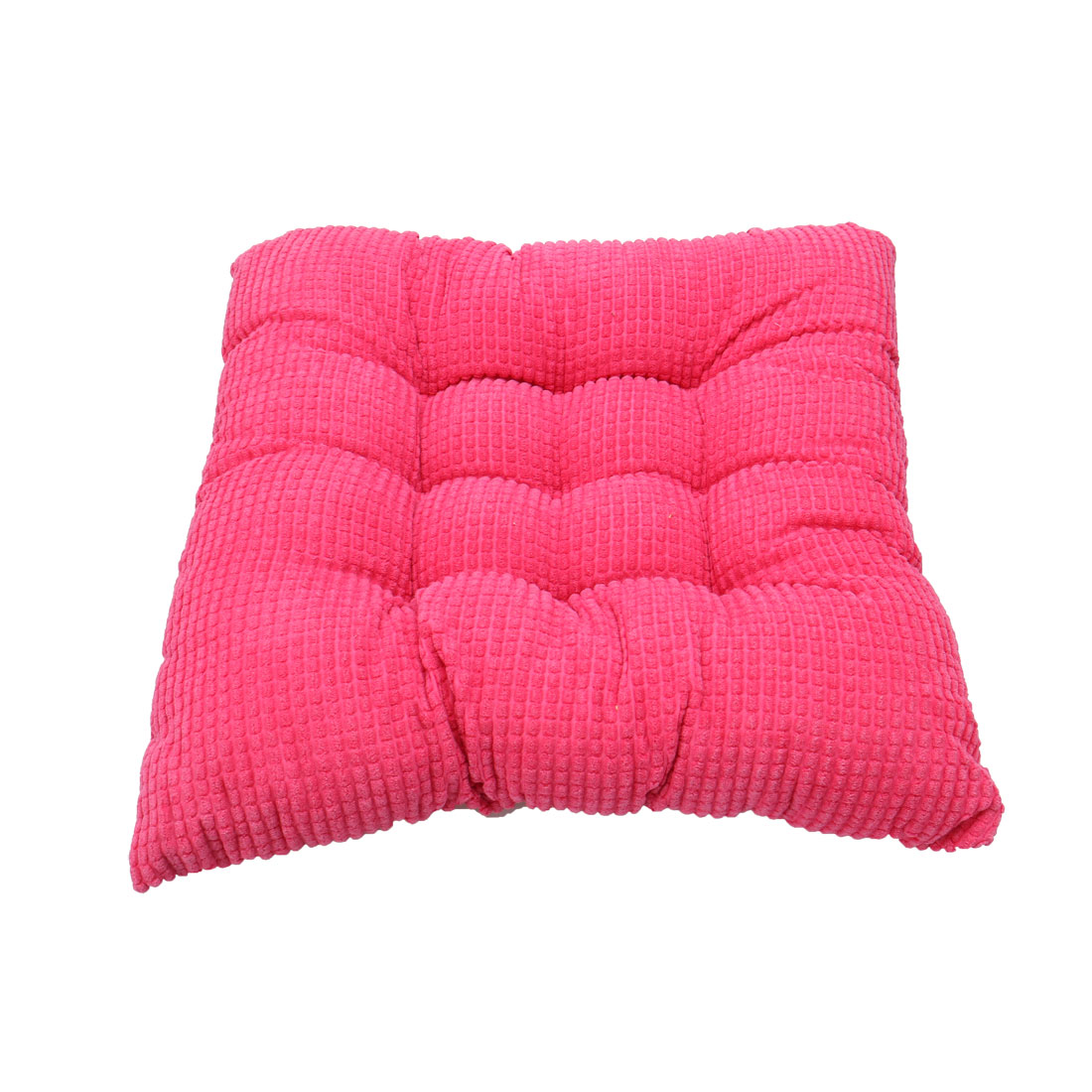 Household Office Corduroy Square Shaped Thickness Chair Cushion Carmine