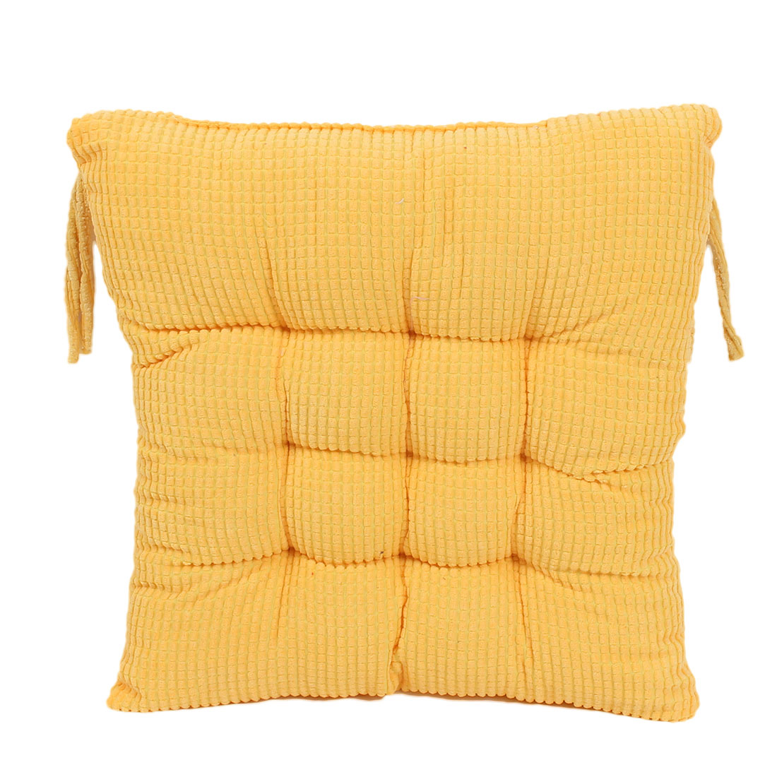 Household Office Corduroy Square Shaped Thickness Chair Cushion Maize yellow