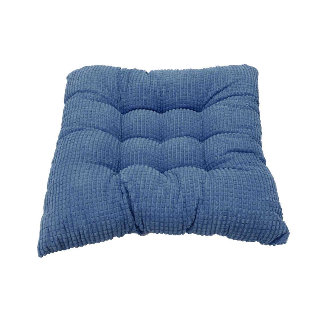 Household Office Corduroy Square Shaped Thickness Chair Cushion Blue