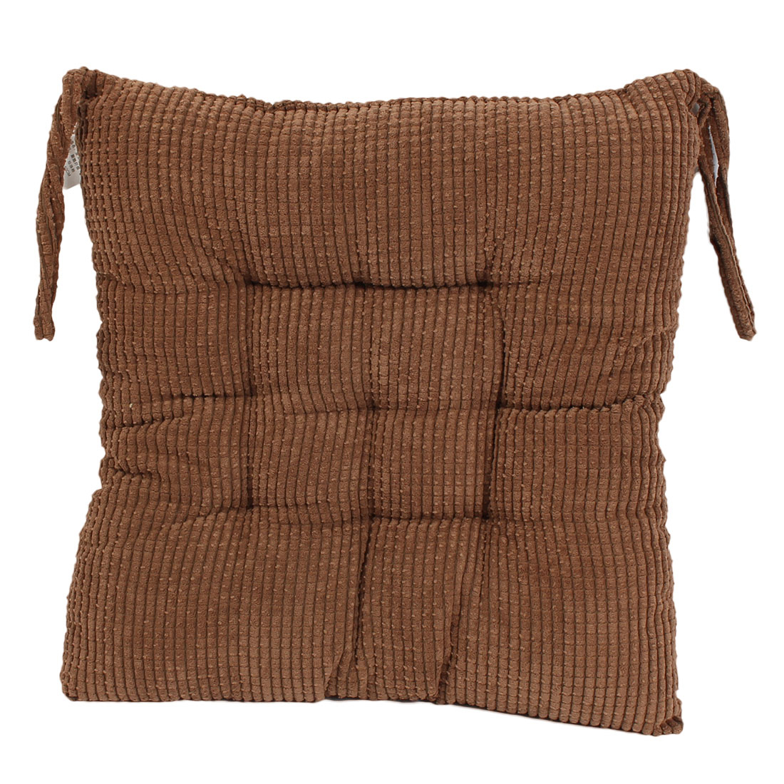 Household Office Corduroy Square Shaped Thickness Chair Cushion Coffee Color