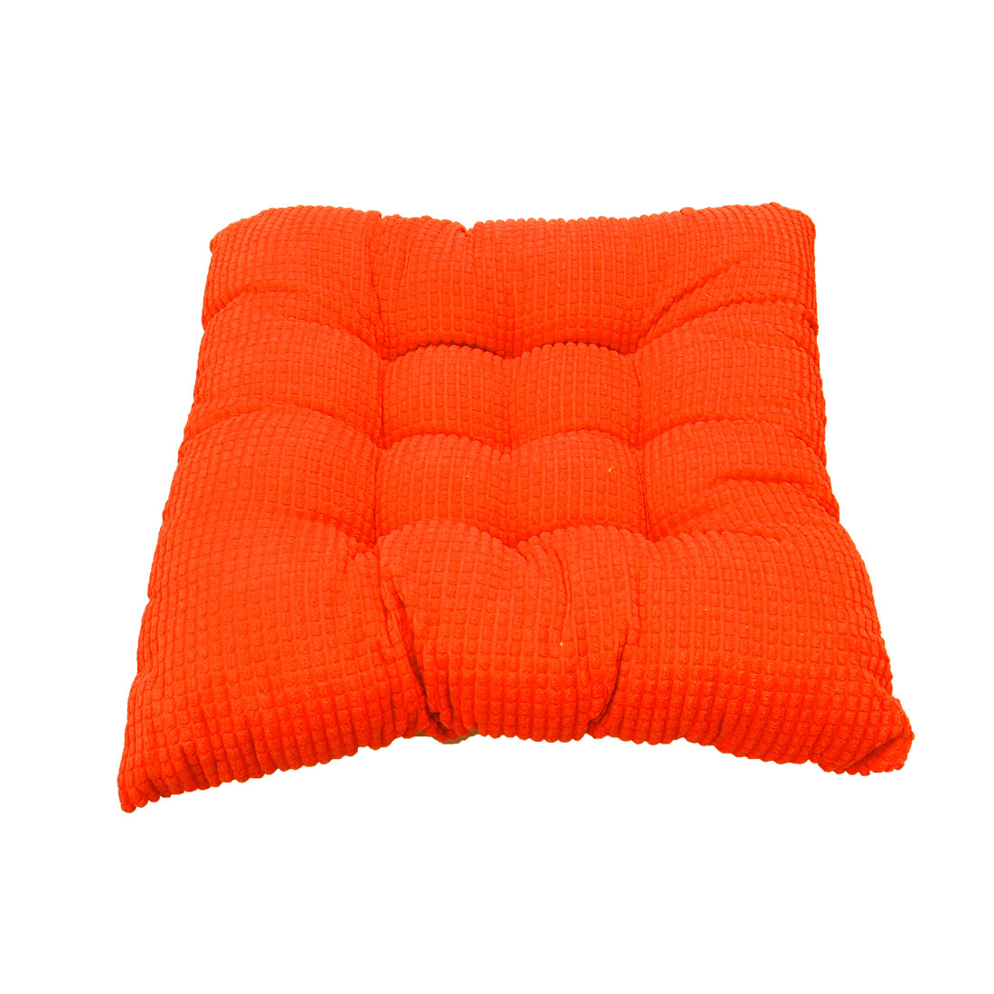 Household Office Corduroy Square Shaped Thickness Chair Cushion Vibrant orange