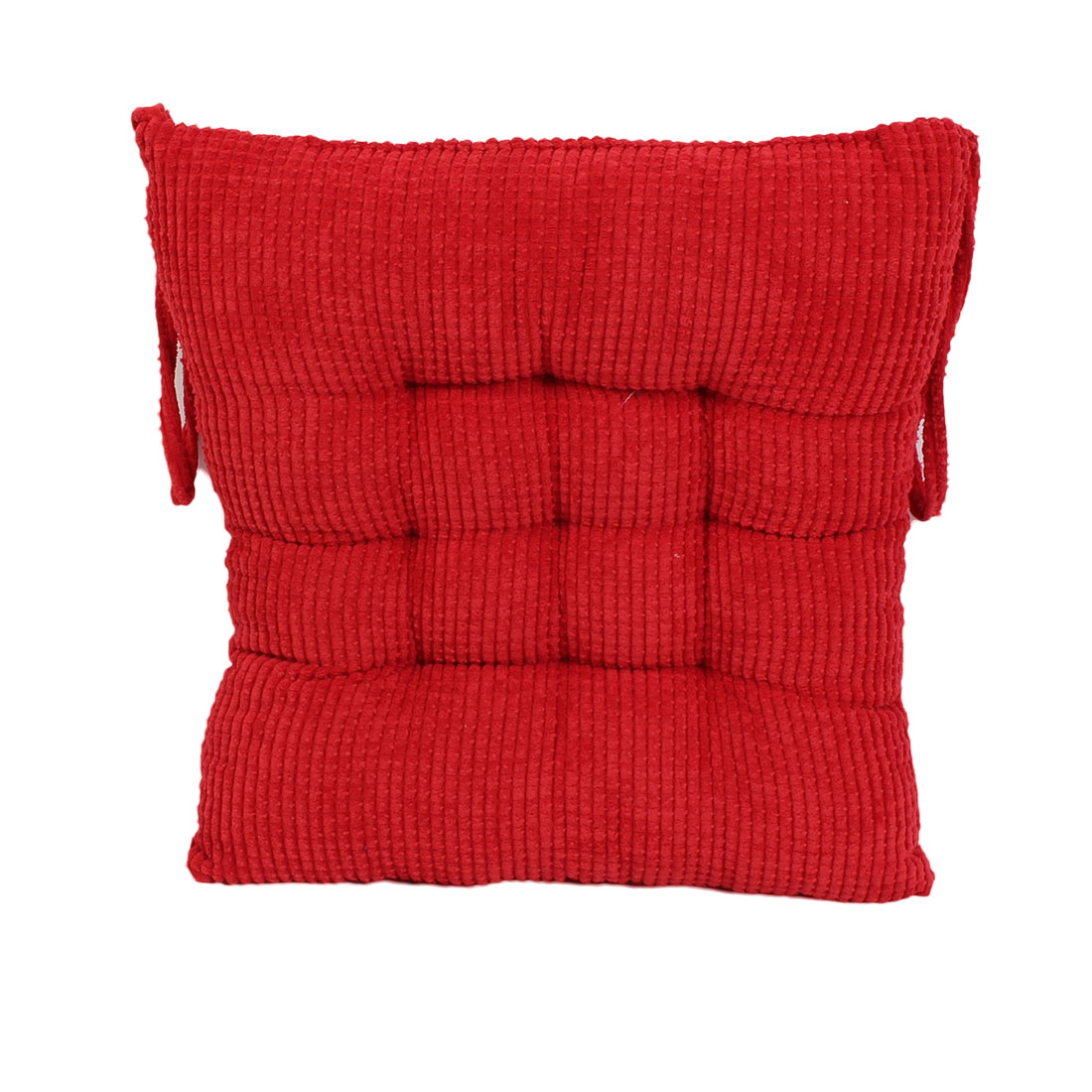 Household Office Corduroy Square Shaped Thickness Chair Cushion Red
