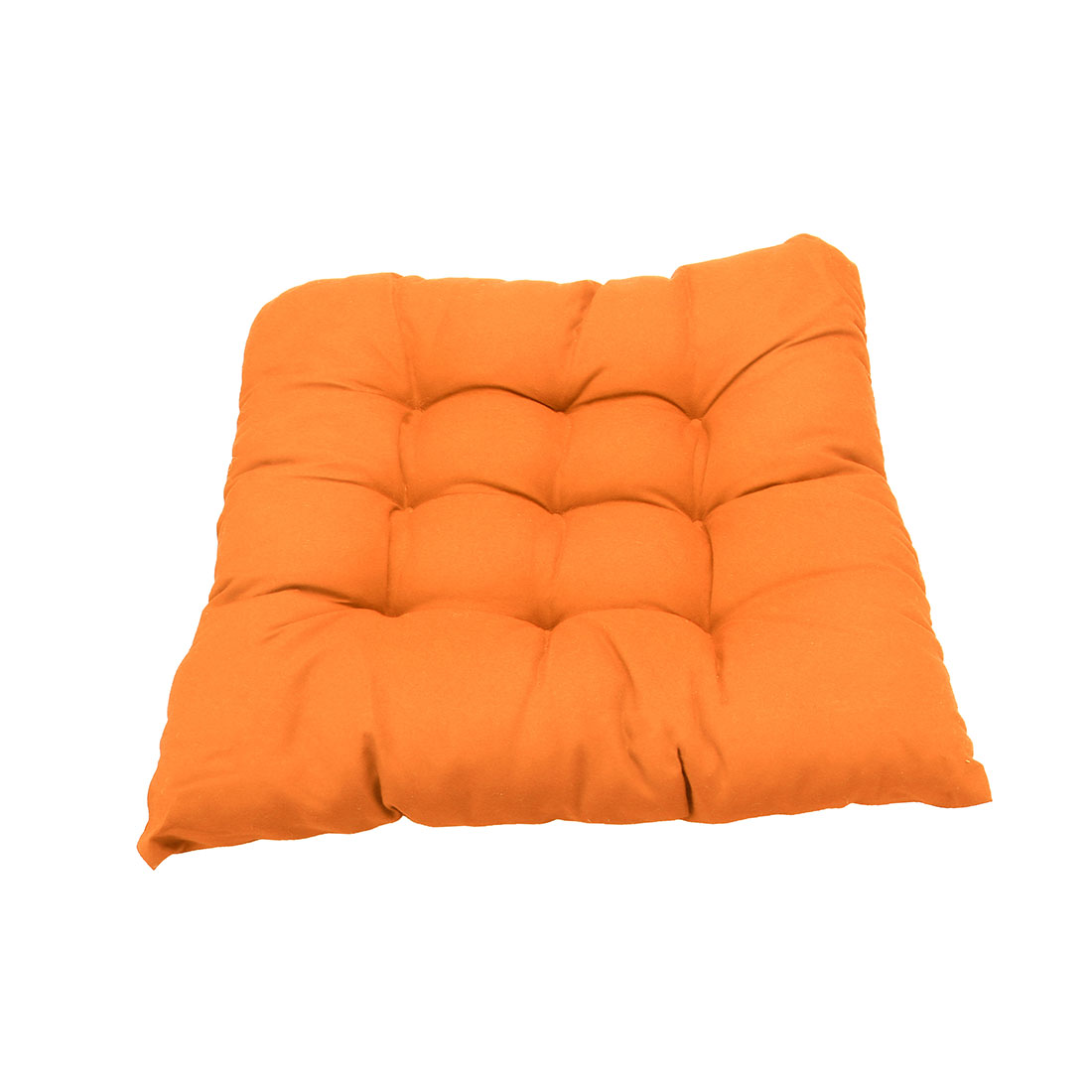 Living Room Decor Cotton Blends Strap Design Cushion Chair Buttocks Pad Orangered