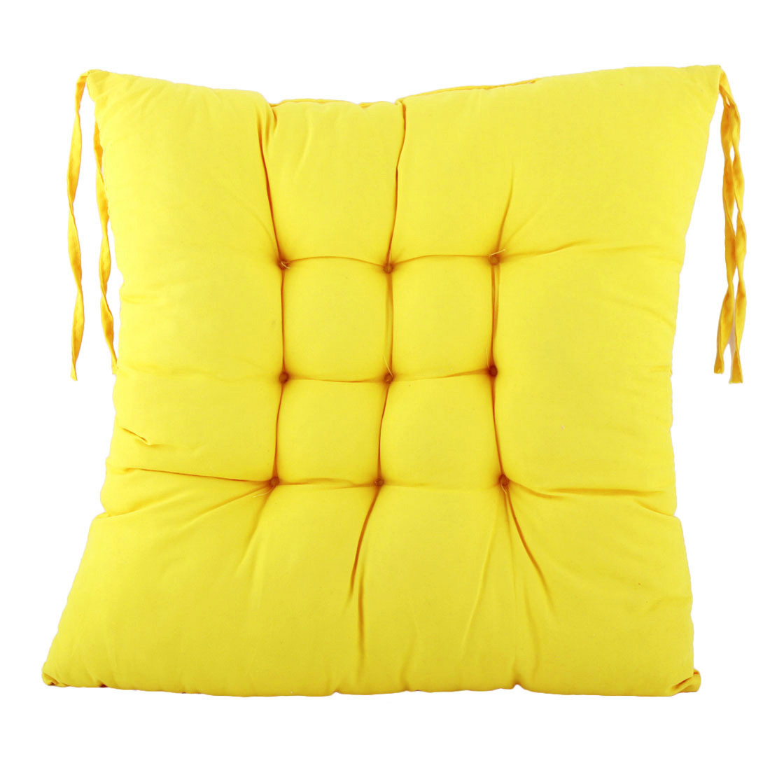 Home Sofa Reilf Cotton Blends Strap Design Thickened Chair Seat Cushion Pad Yellow