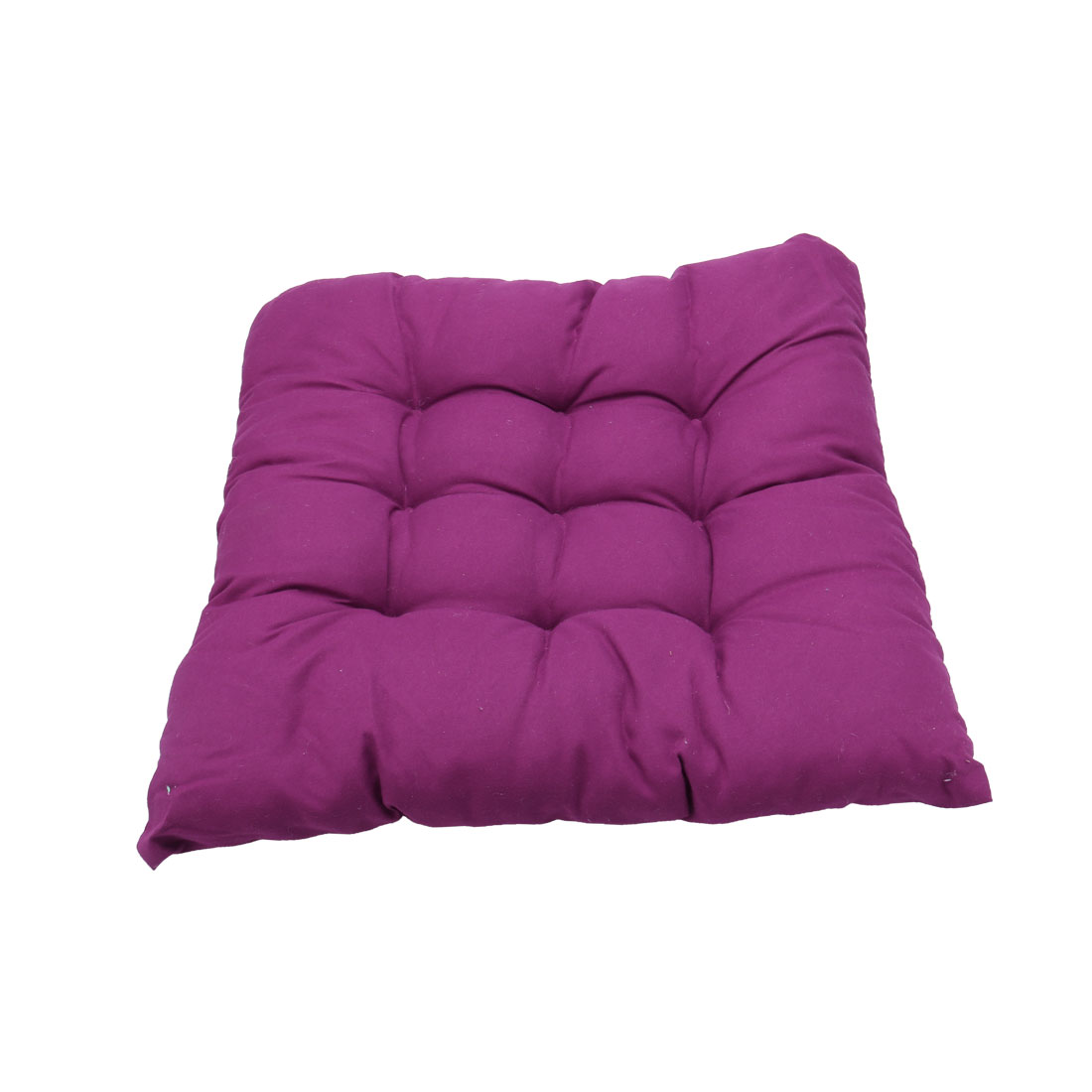 Home Living Room Decor Cotton Blends Strap Design Thickened Chair Cushion Pad Purple