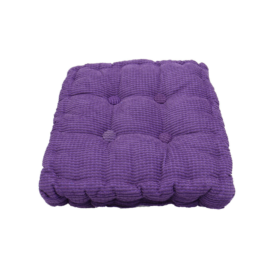 Home Office Corduroy Square Shaped Anti Slip Seat Chair Cushion Pad Cover Purple