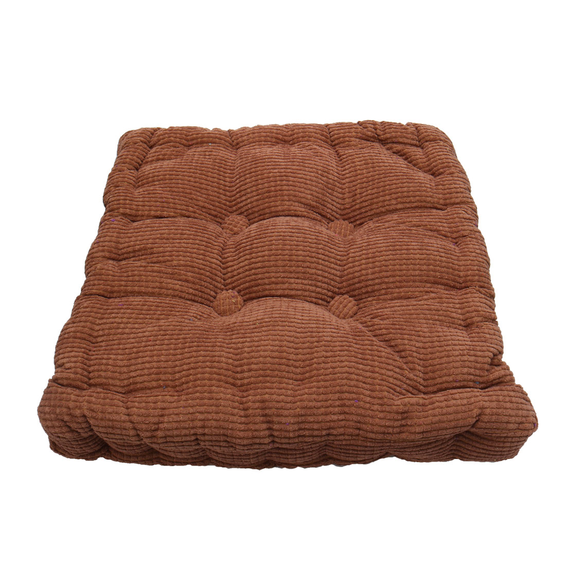 Home Office Corduroy Square Shaped Anti Slip Seat Chair Cushion Pad Cover Coffee Color