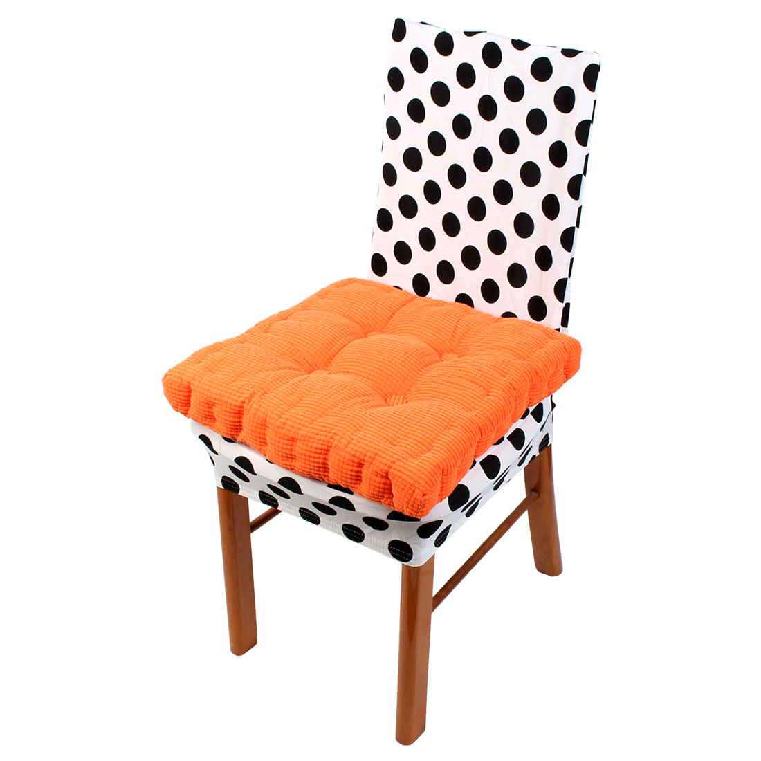 Home Office Corduroy Square Shaped Sofa Floor Chair Seat Cushion Pad Orange