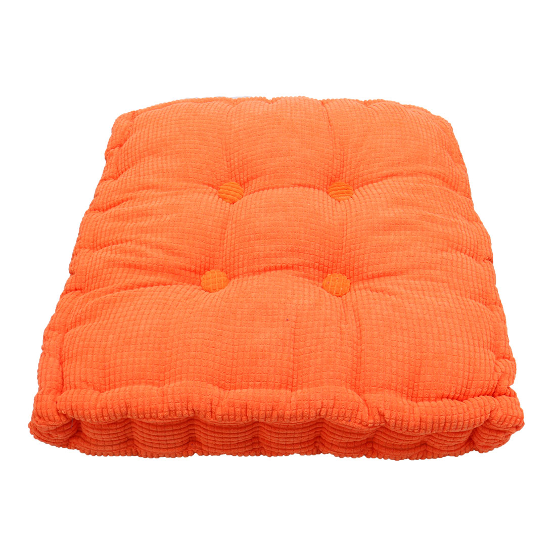 Home Office Corduroy Square Shaped Anti Slip Seat Chair Cushion Pad Cover Orange