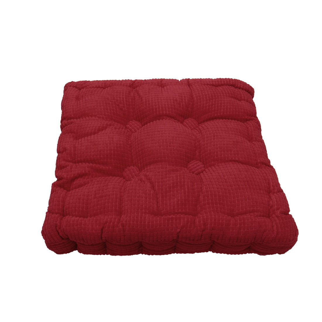 Home Office Corduroy Square Shaped Anti Slip Seat Chair Cushion Pad Cover Red