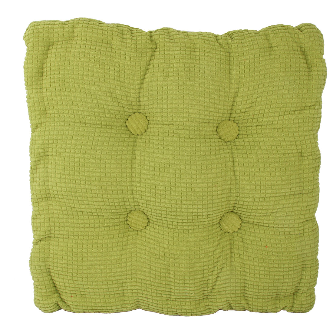 Home Office Corduroy Square Shaped Anti Slip Seat Chair Cushion Pad Cover Grass Green