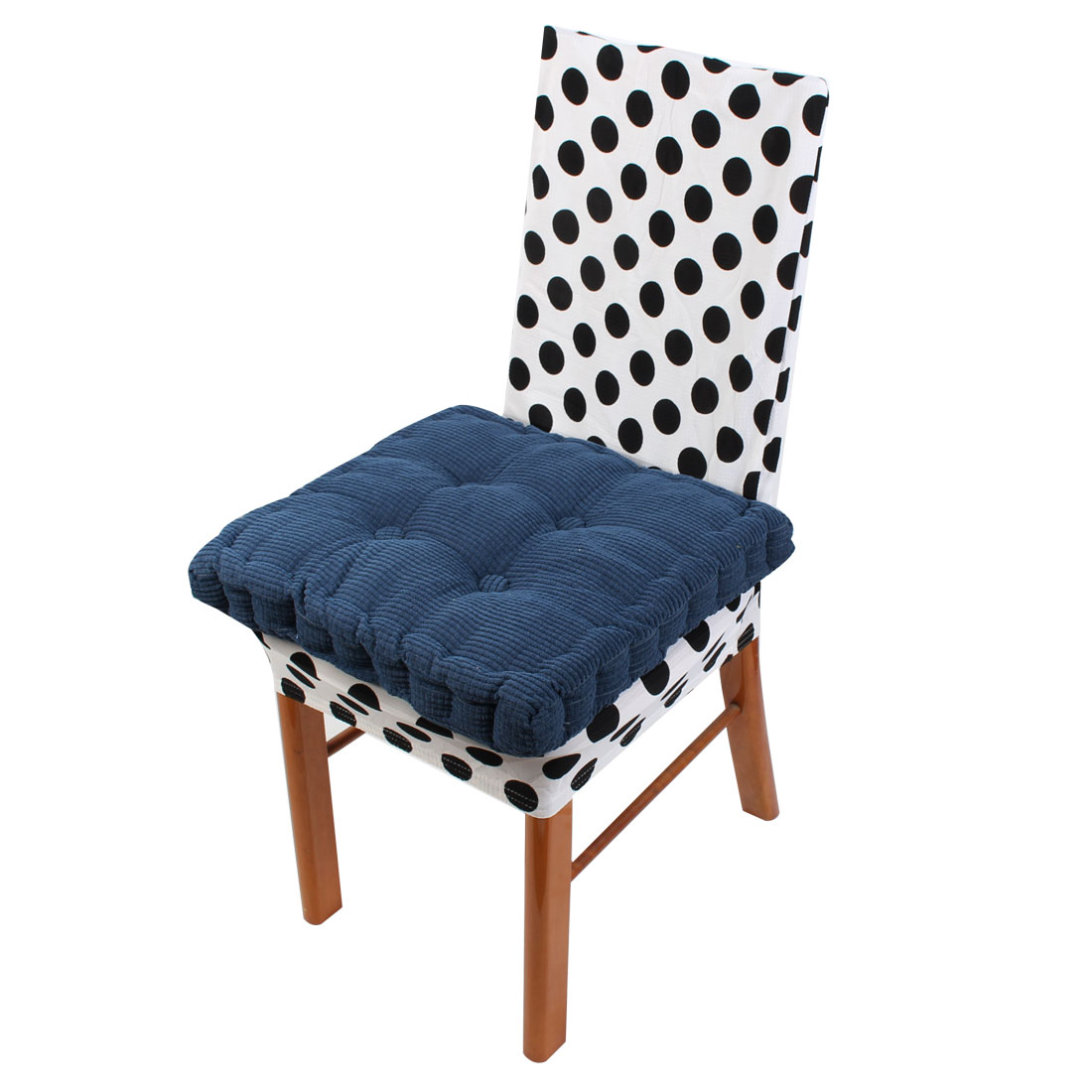 Household Corduroy Square Shape Thicken Chair Cushions Gray Blue 43.5cm x 43.5cm
