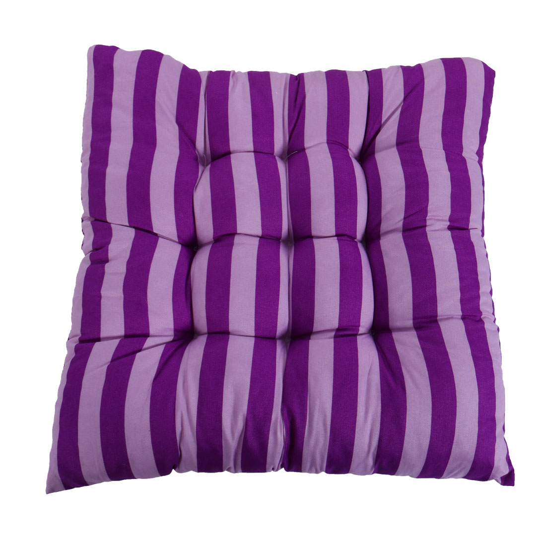 Home Chair Sofa Cotton Blends Square Stripe Stamp Design Soft Seat Cushion Purple and Light Purple 39cm x 39cm