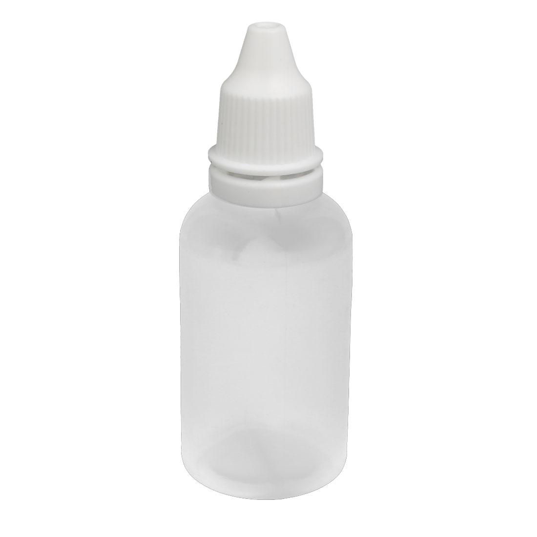 30ml PE Plastic Squeezable Dropper Dropping Bottle White Cap