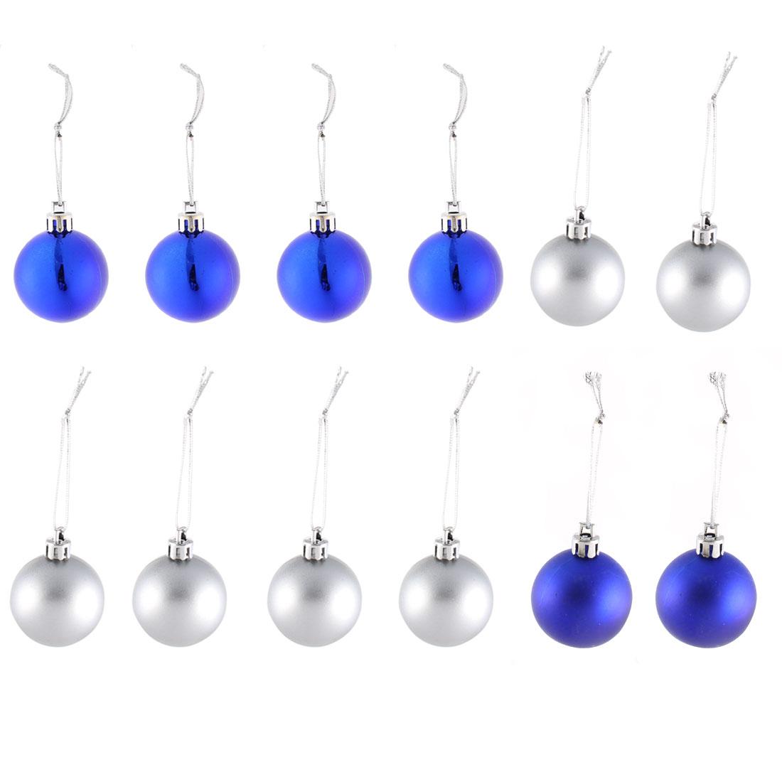 Christmas Party Plastic Hanging Decor Baubles Home Ornament Balls 12pcs