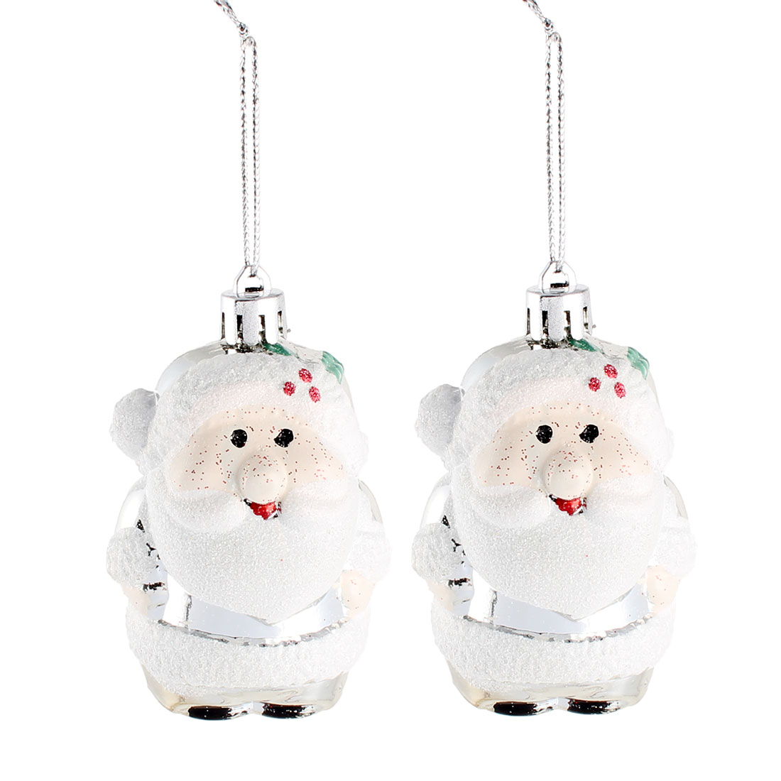 Holiday Xmas Christmas Tree Santa Claus Hanging Decor Party Ornament 2 Pcs