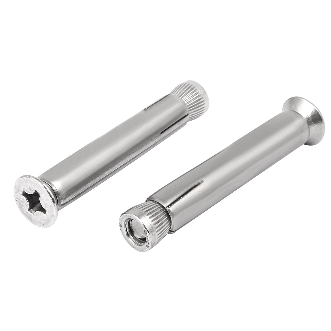M8 x 70mm 304 Stainless Steel Countersunk Head Sleeve Anchor Expansion Bolt 2PCS
