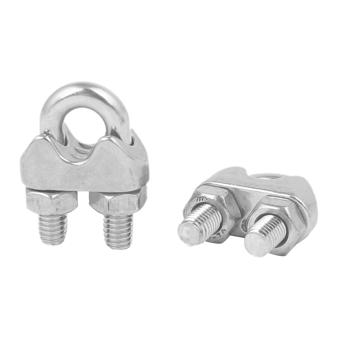 M6 304 Stainless Steel U-Shape Bolt Saddle Clamp Cable Wire Rope Clip 2PCS