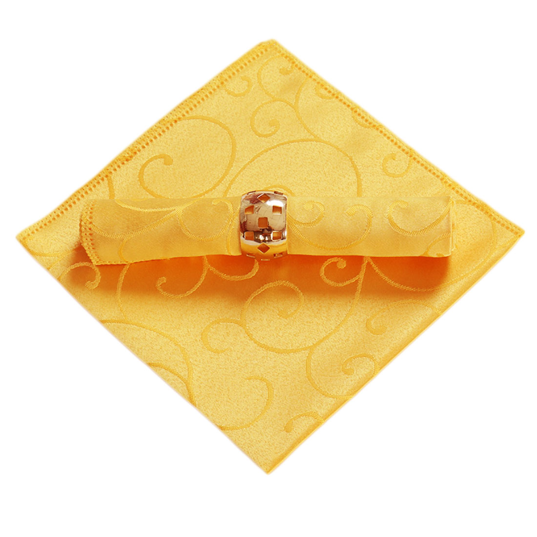 Home Restaurant Cafe Fabric Square Table Glass Decor Cleaning Dinner Cloth Napkin Light Orange