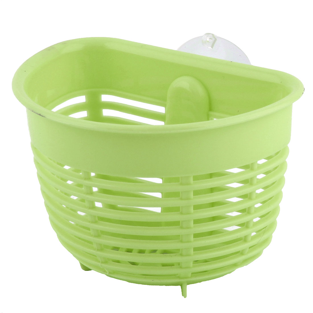 Kitchen Bathroom Plastic Hollow Out Small Items Comb Tableware Drain Storage Basket Green