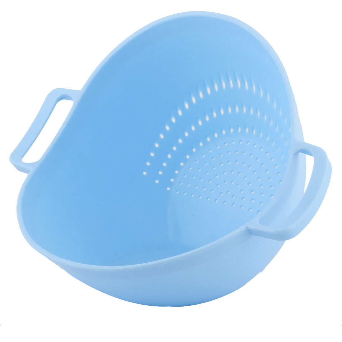 Kitchenware Home Plastic Wash Rice Sieve Vegetables Basin Colander Light Blue