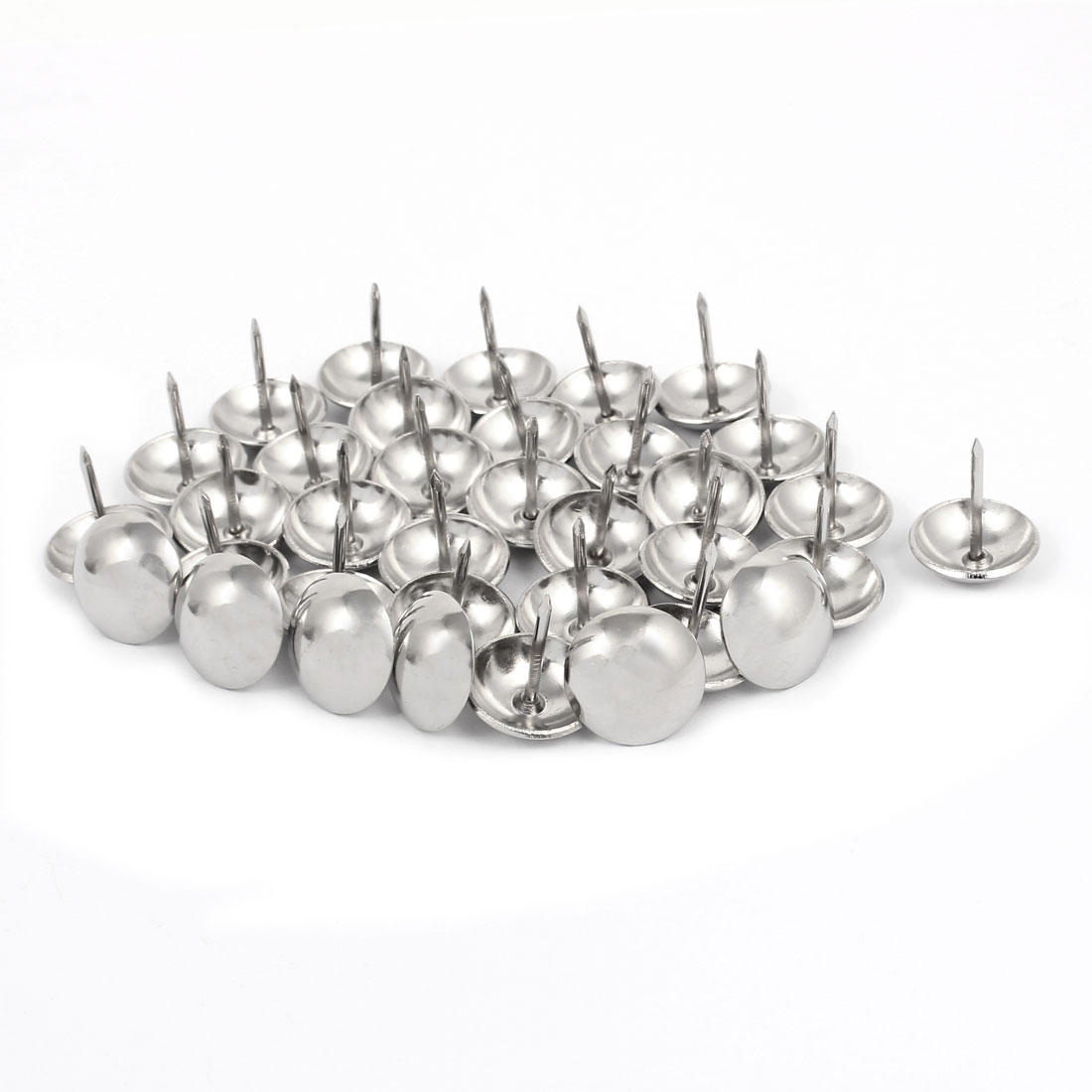 19mm Dia Stainless Steel Upholstery Tack Nail Decorative Thumbtack Pushpin 35PCS