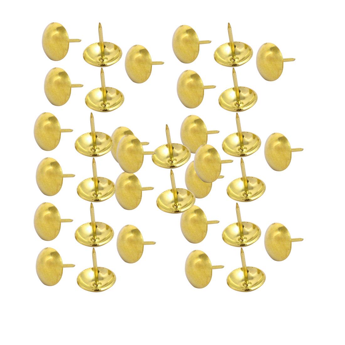 19mm Dia Round Head Thumbtack Upholstery Decorative Nail Tack Push Pin 35PCS
