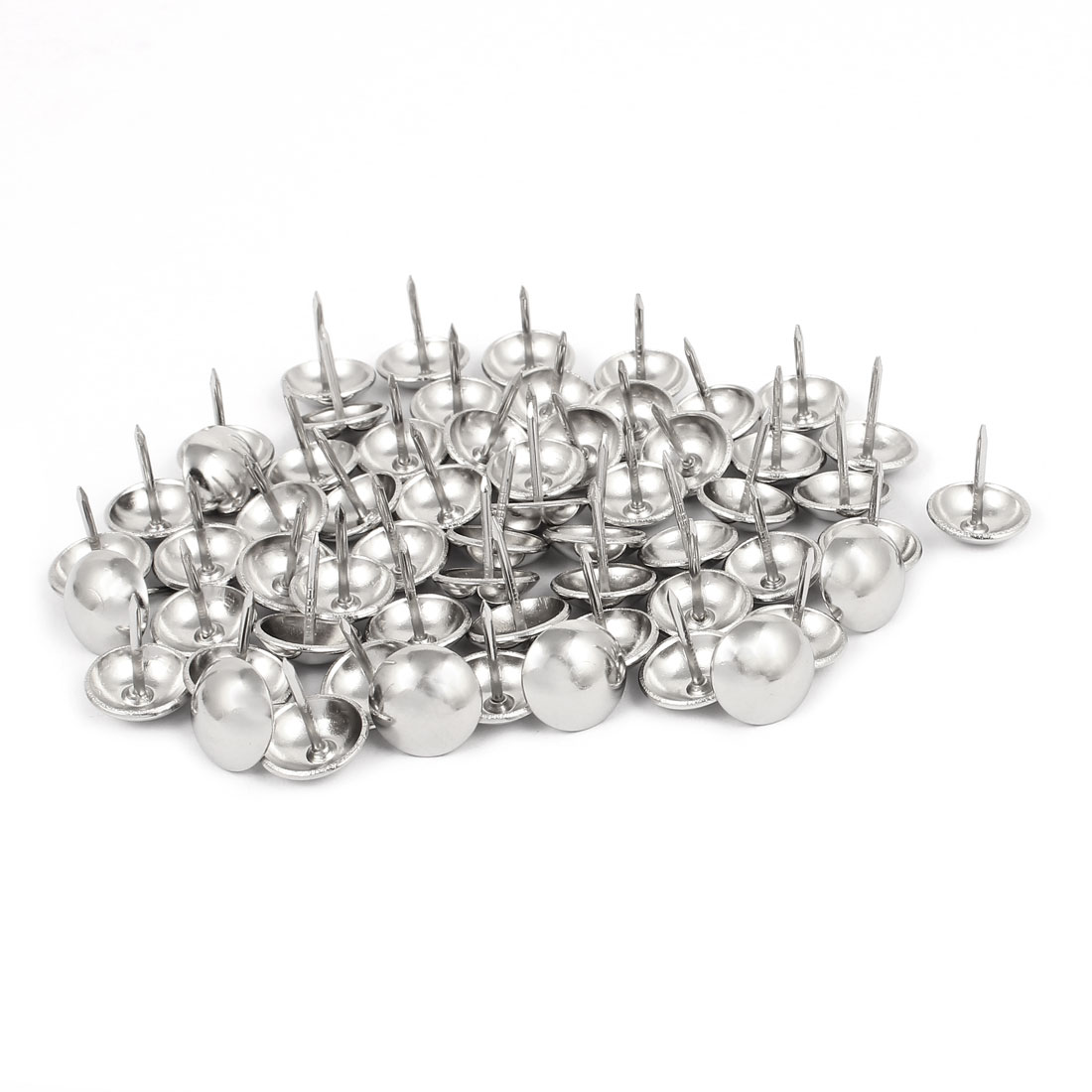 14mm Dia Stainless Steel Thumbtack Upholstery Decorative Tack Nail Pushpin 60PCS