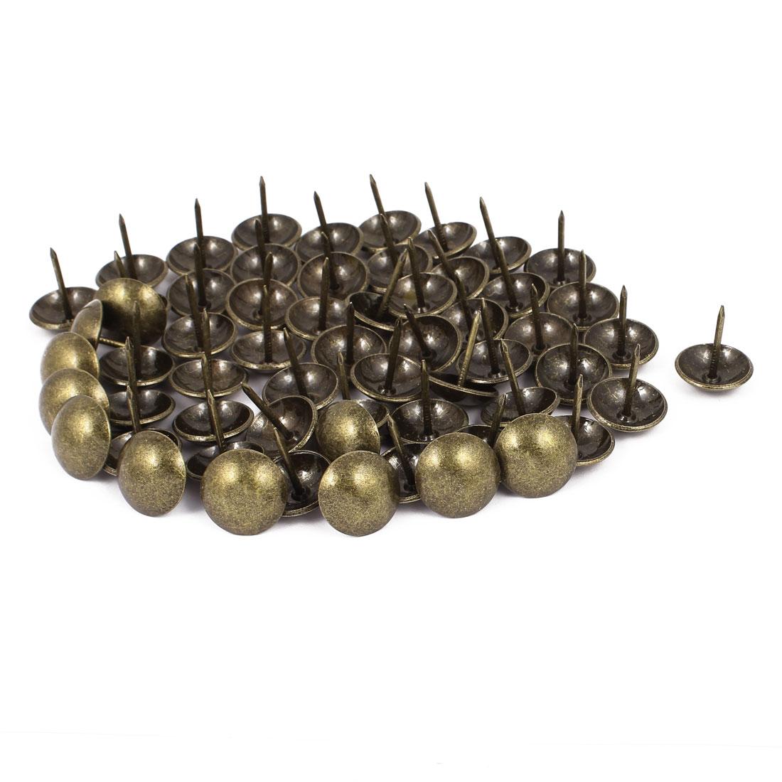 19mm Dia Upholstery Nail Decorative Tack Stud Push Pin Thumbtack 60PCS