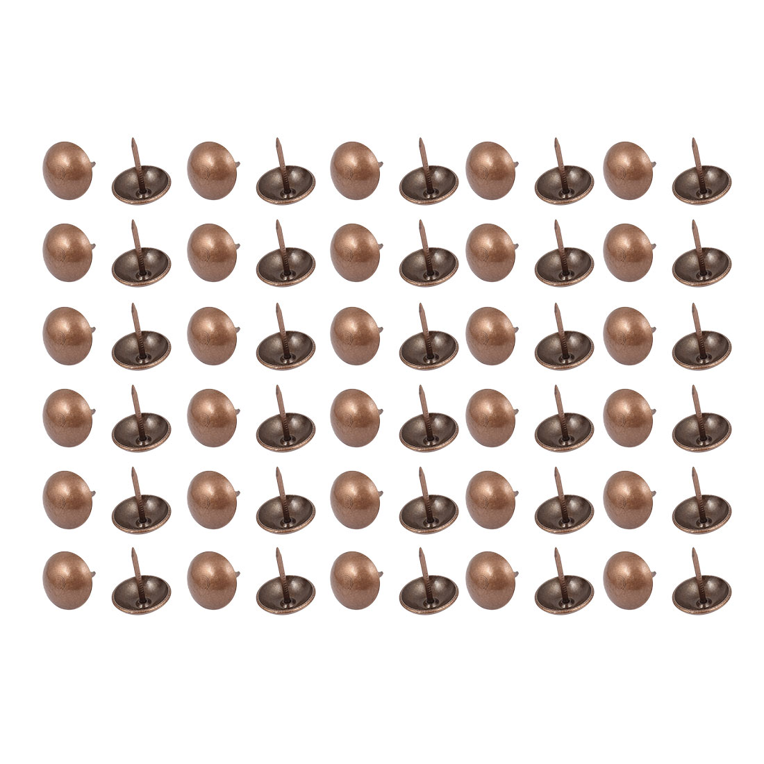 19mm Dia Metal Upholstery Nail Tack Stud Push Pin Doornail Copper Tone 60PCS