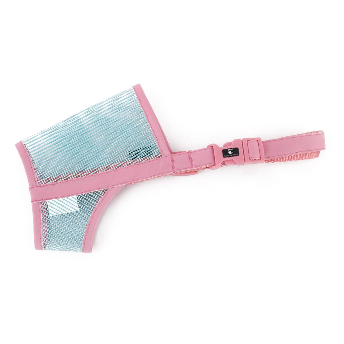 Pet Dog Puppy Plastic Adjustable Strap Anti Bite Mouth Mask Muzzle Guard Pink Blue Size XL