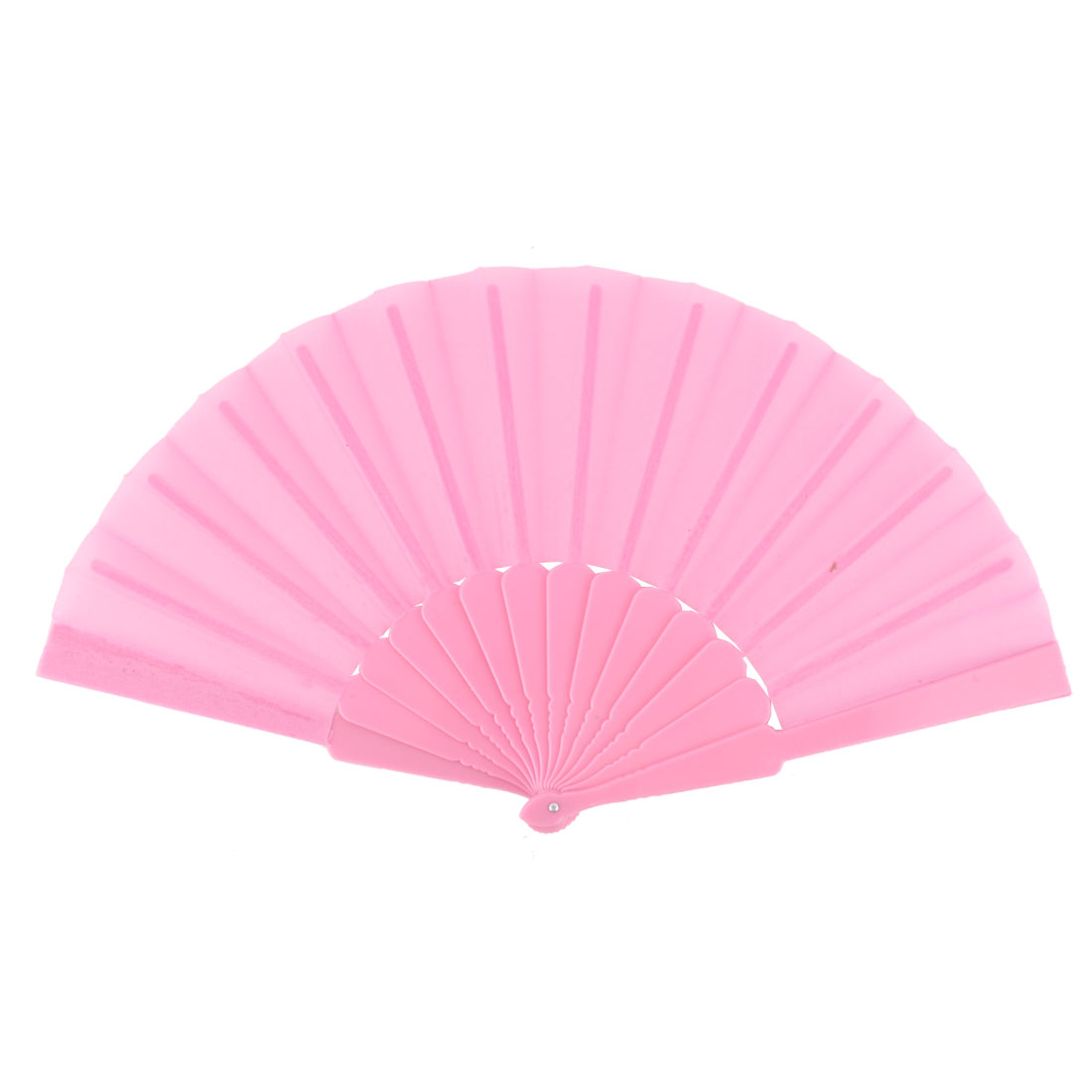 Lady Household Outdoor Party Gift Plastic Rib Chinese Style Foldable Hand Fan Pink