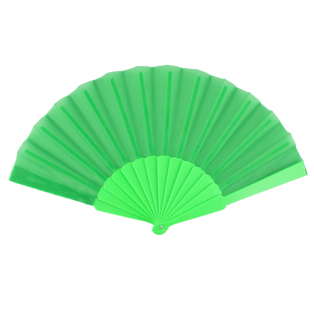 Lady Household Outdoor Party Gift Plastic Rib Chinese Style Foldable Hand Fan Green