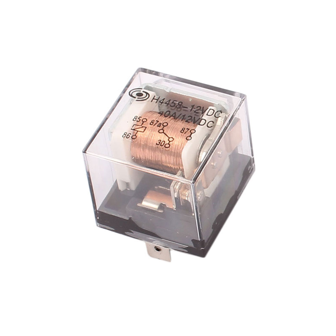 H4458 DC 12V 40A 5 Pin SPDT Power Relay w LED Light Colorless Shell