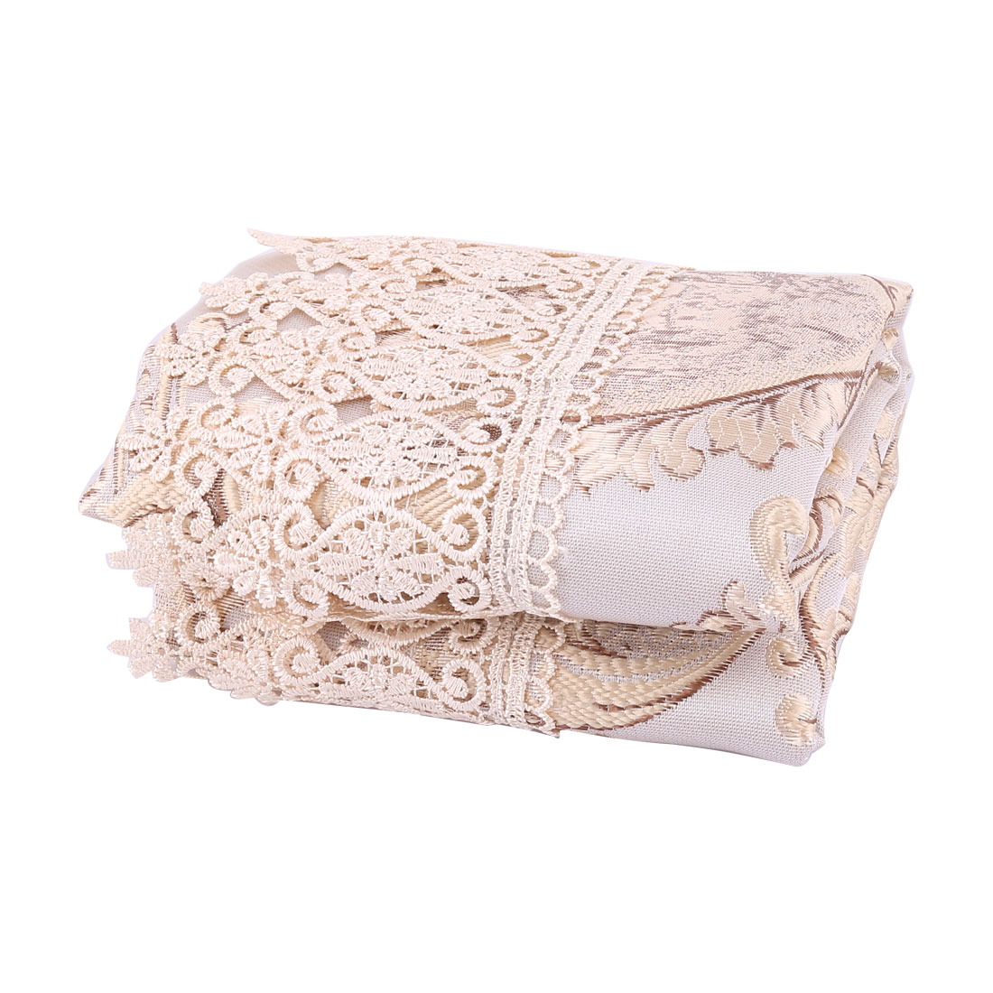 Embroidered Lacy Crochet Round 32 Inch Tablecloth Water/Oil Stain Resistant