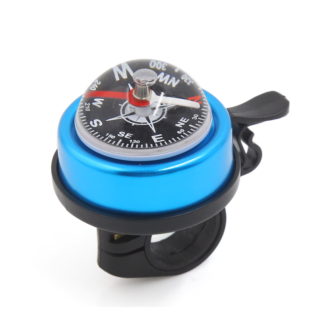 Aluminum Alloy Bicycle Bike Cycling Handlebar Compass Ring-down Horn Bell Blue