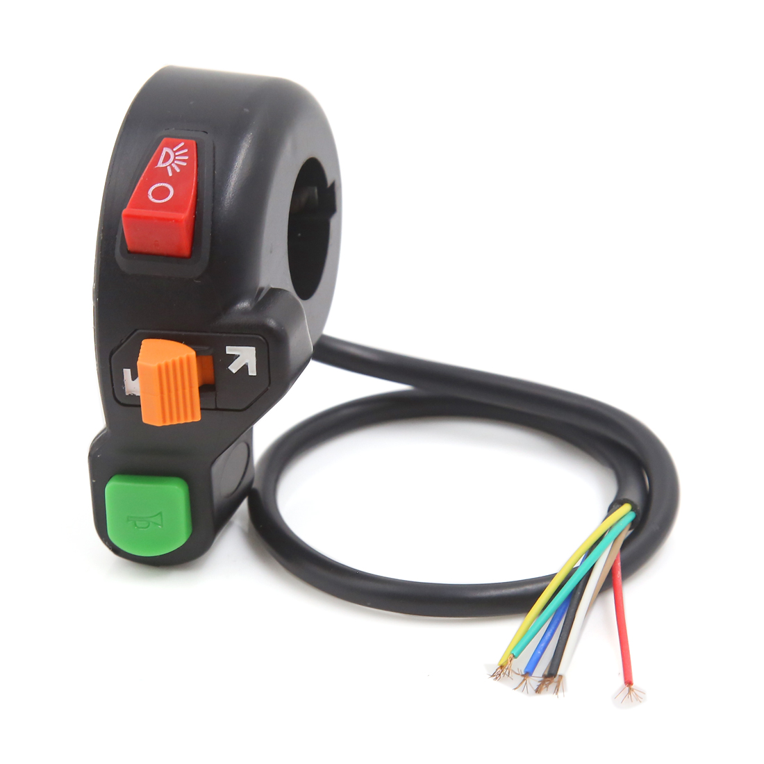 7/8'' Motorcycle Scooter Handlebar Horn Turn Signals On/Off HeadLight Switch