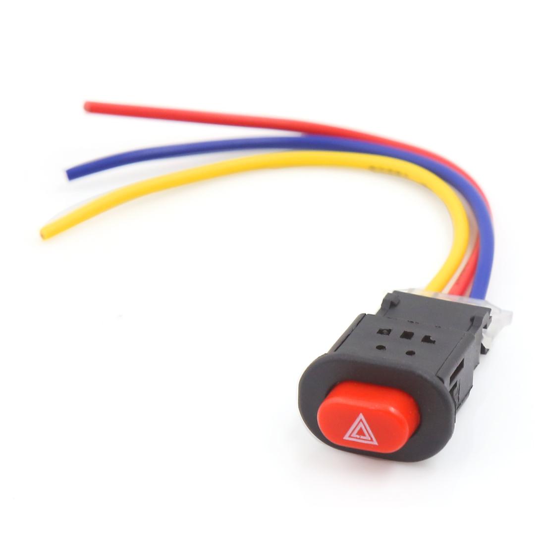 Universal Motorcycle Headlights Double Flash Warning Emergency Control Switch