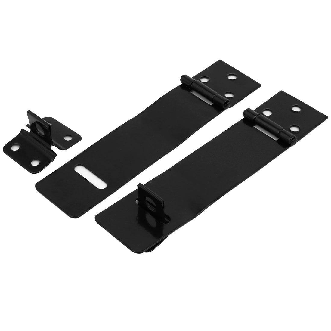 2pcs Door Cabinet Clasp Gate Lock Padlock Latch Hasp Staple 137mm Length
