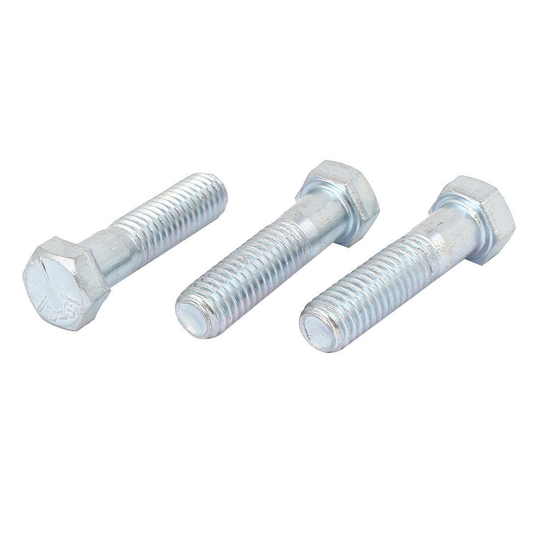 "7/16"" x 1-3/4"" Grade 5 UNC Zinc Plated Hex Head Cap Screw Threaded Bolt 3pcs"