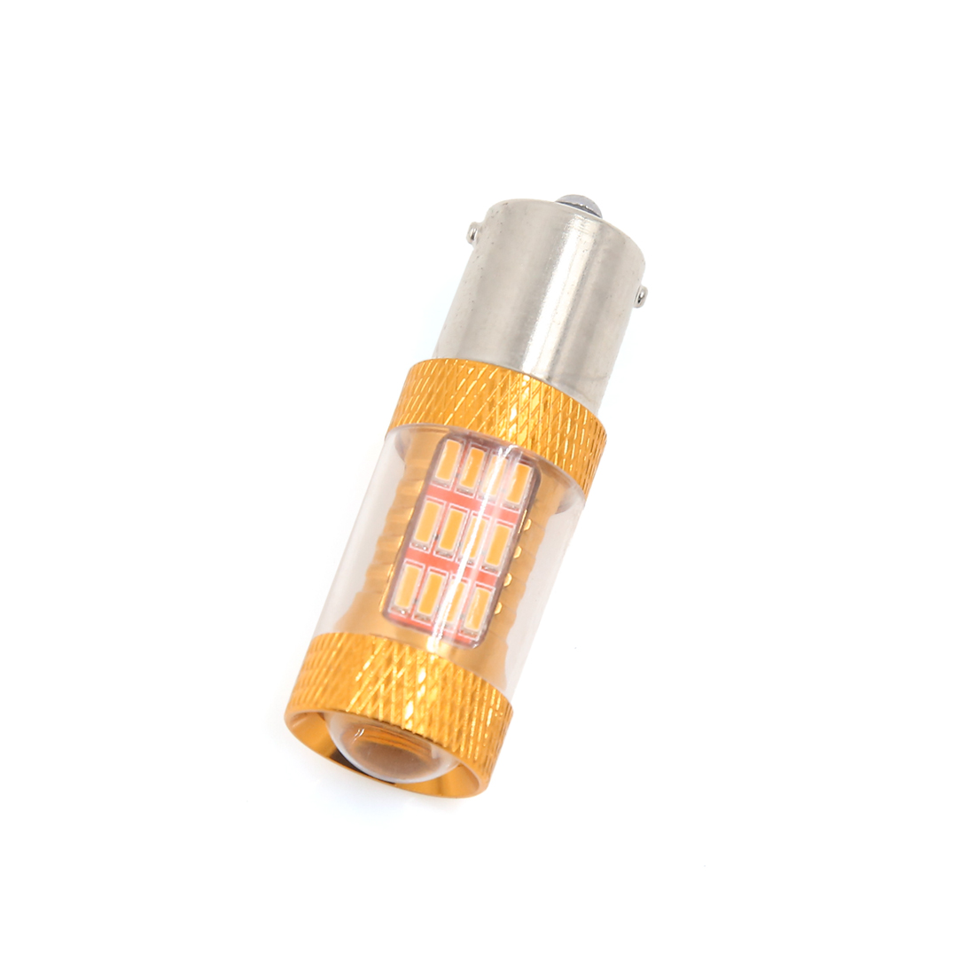 1156 BA15S 54 Yellow 4014 SMD LED Tail Turn Reverse Light Bulb DC 12V for Car